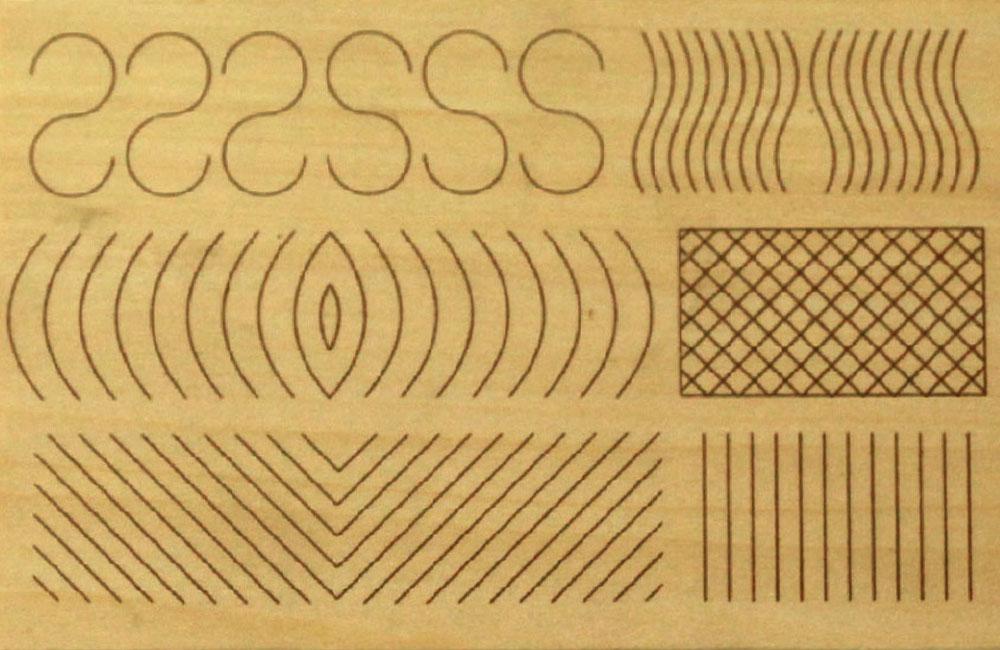 Hársfára előrerajzott faragási minta (1.-2. szint)