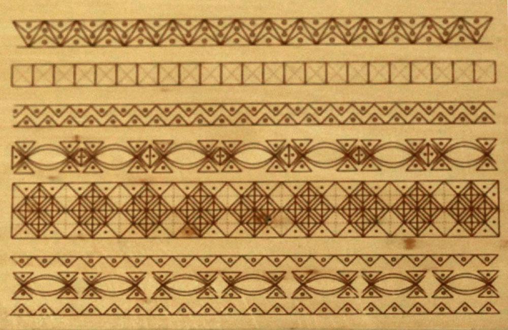 Hársfára előrerajzott faragási minta (9.-10. szint)